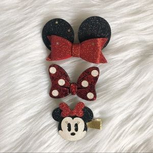 Minnie Mouse Hair Clip Set